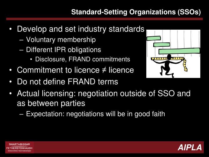 Standard-Setting Organizations (SSOs)