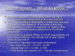 sso program what to know
