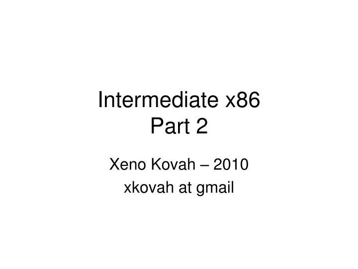 intermediate x86 part 2 n.