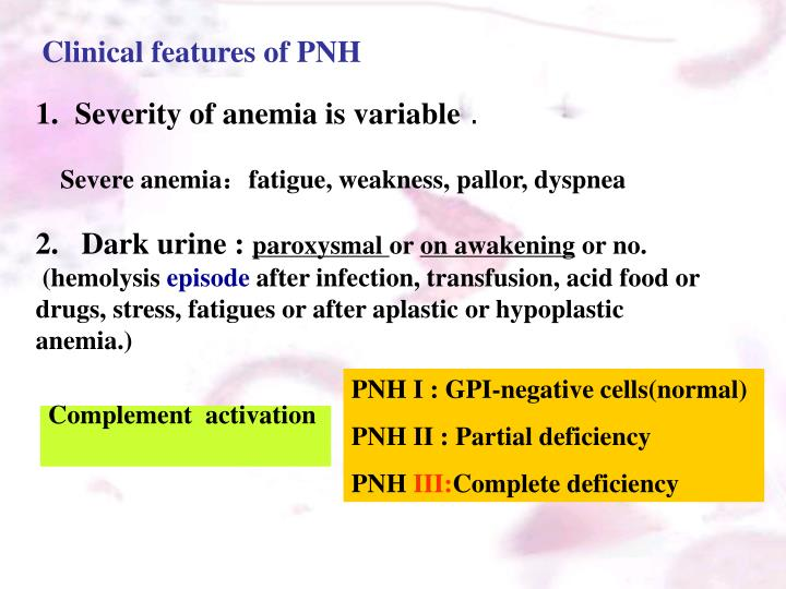 Severity of anemia is variable