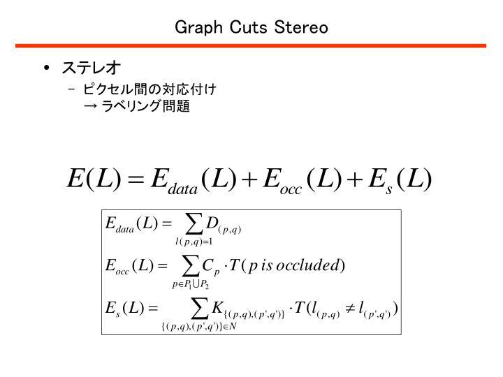Graph Cuts Stereo