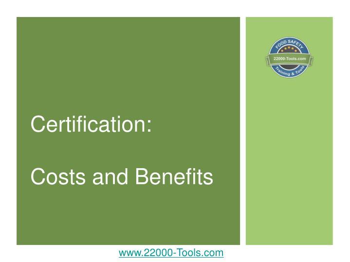 Certification: