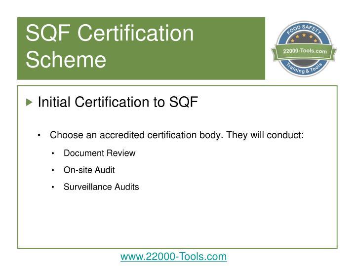 SQF Certification Scheme