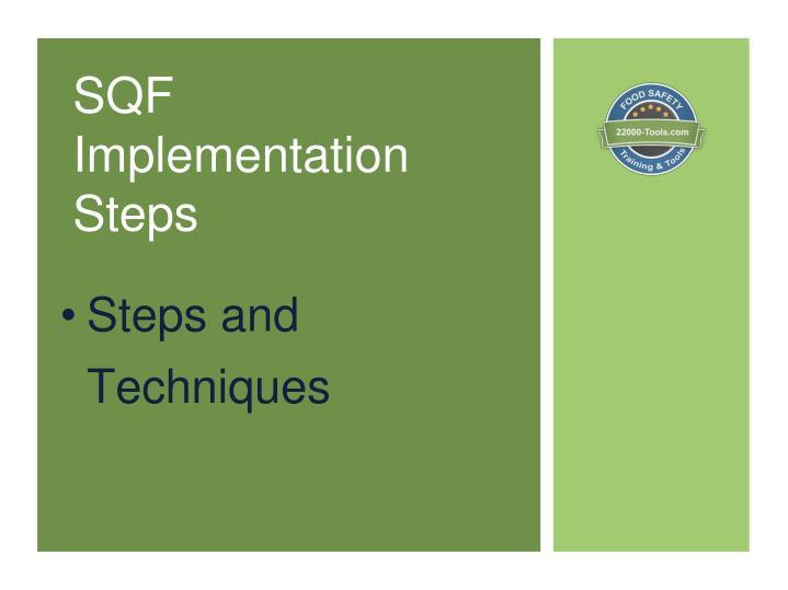SQF Implementation Steps