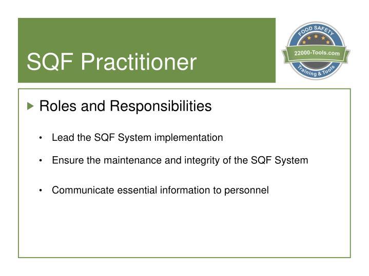 SQF Practitioner