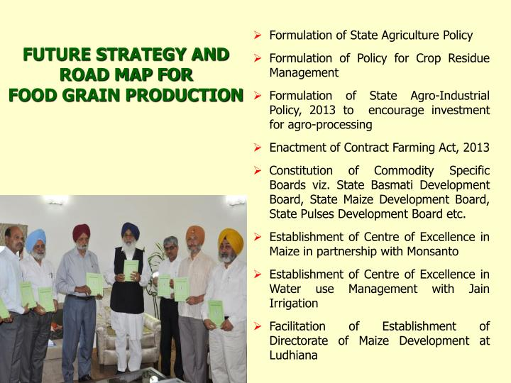 Formulation of State Agriculture Policy