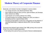 modern theory of corporate finance1