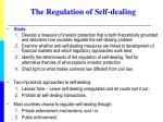 the regulation of self dealing