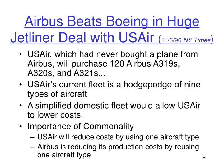 Airbus Beats Boeing in Huge Jetliner Deal with USAir
