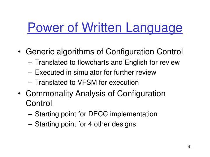 Power of Written Language