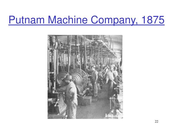 Putnam Machine Company, 1875