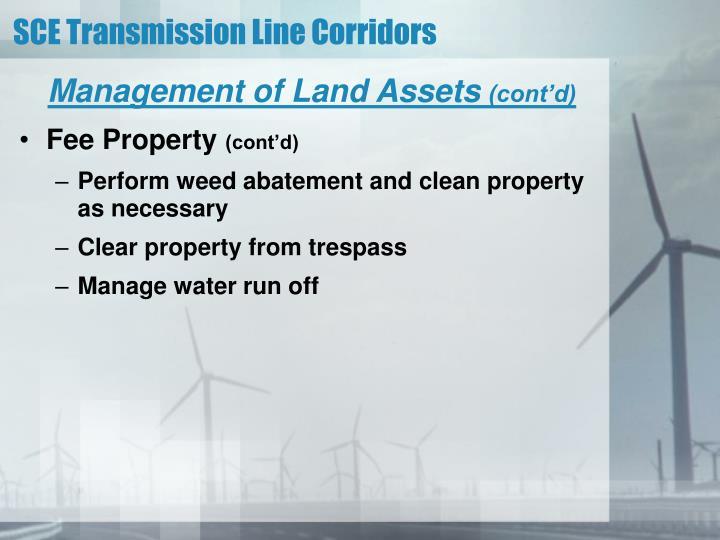 Management of Land Assets