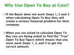 why use open to buy at cost1