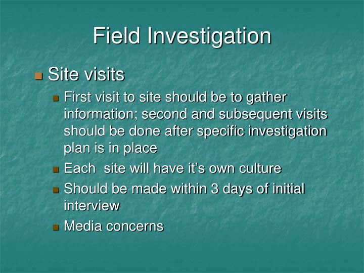 Field Investigation