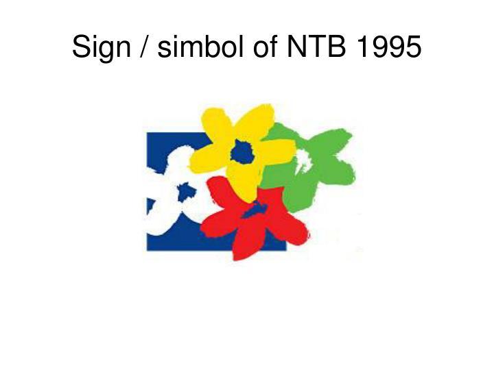 Sign / simbol of NTB 1995