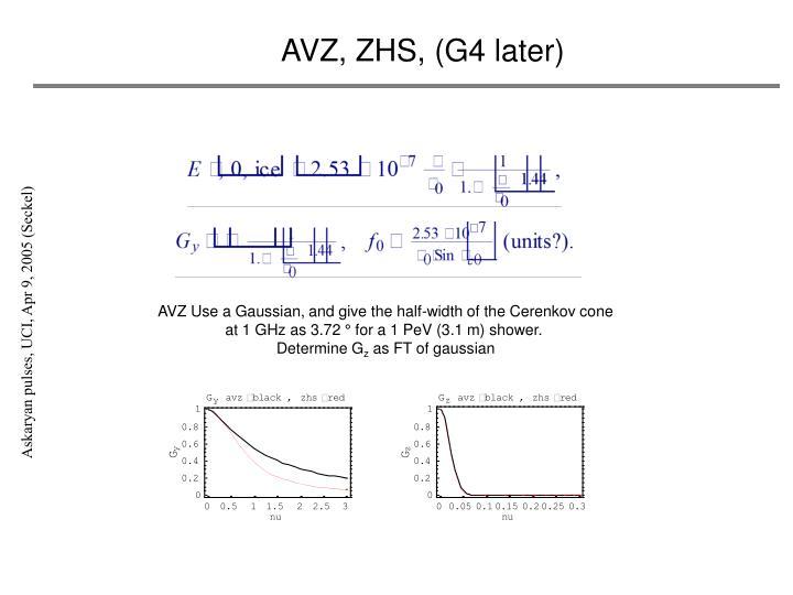 AVZ, ZHS, (G4 later)
