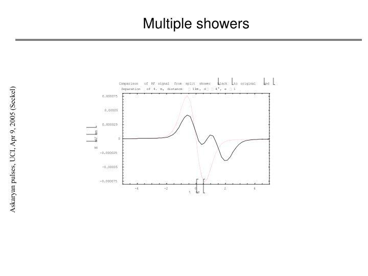 Multiple showers
