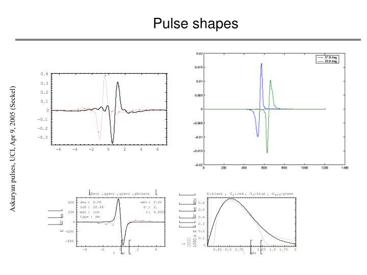 Pulse shapes