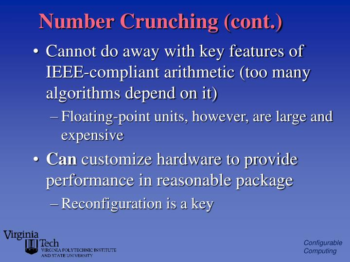 Number Crunching (cont.)