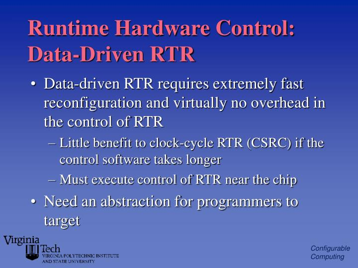 Runtime Hardware Control: