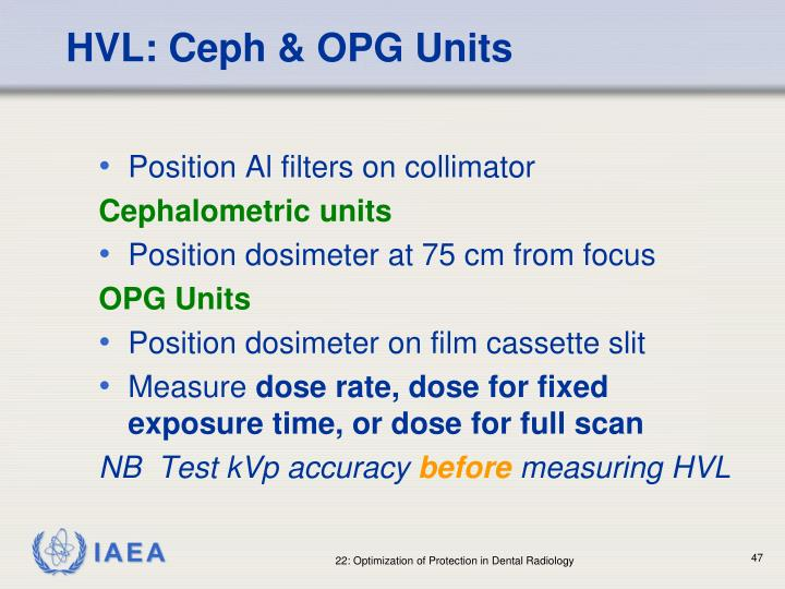 HVL: Ceph & OPG Units