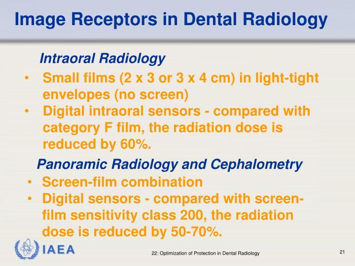 Image Receptors in Dental Radiology