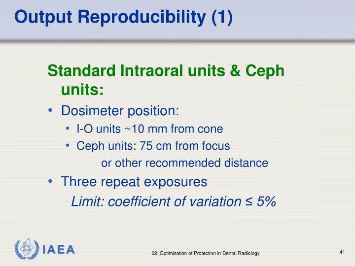 Output Reproducibility (1)