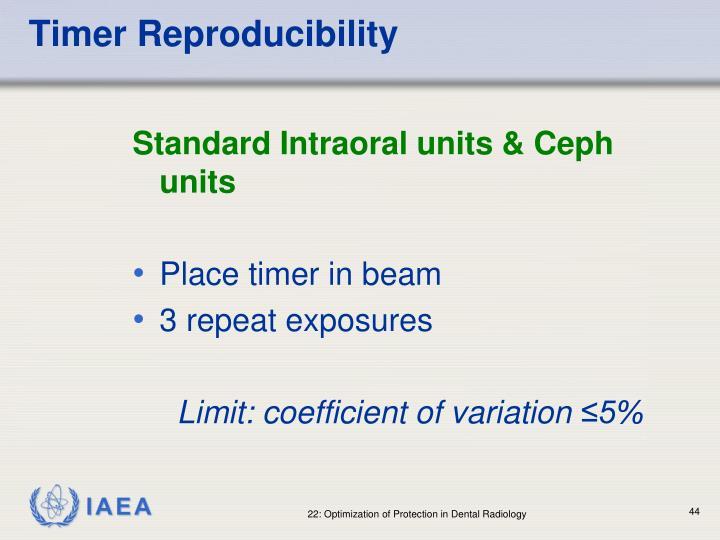 Timer Reproducibility
