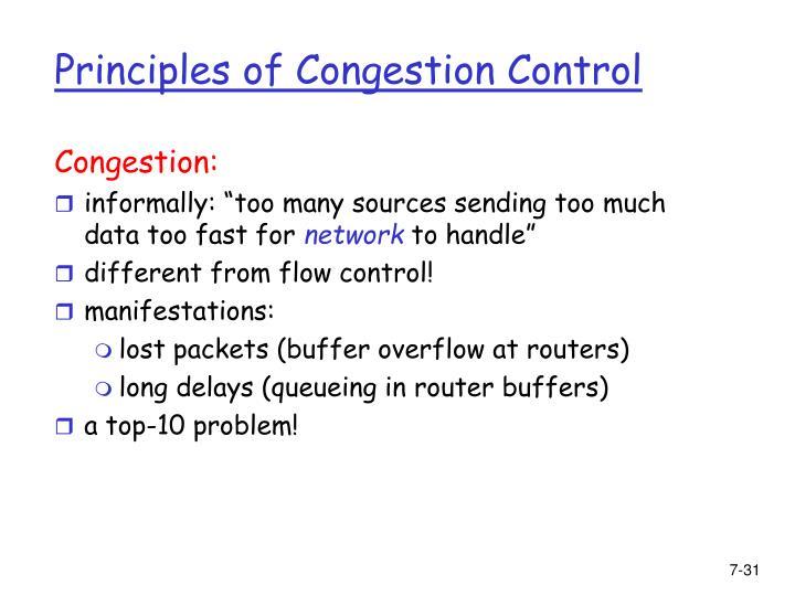 Congestion:
