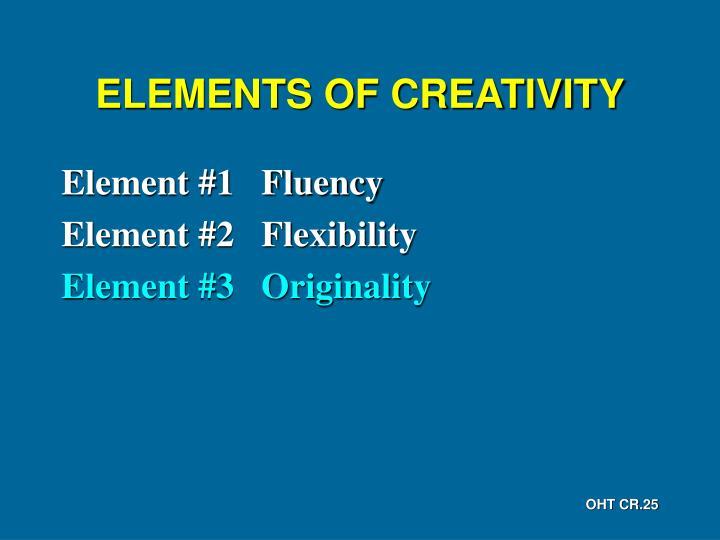 ELEMENTS OF CREATIVITY