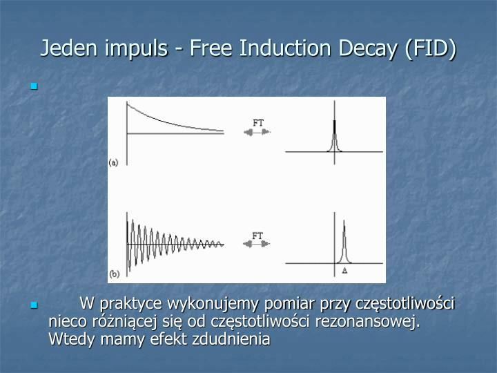 Jeden impuls - Free Induction Decay (FID)