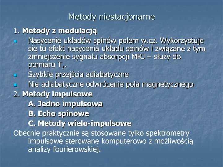Metody niestacjonarne