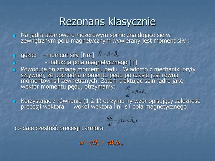 Rezonans klasycznie