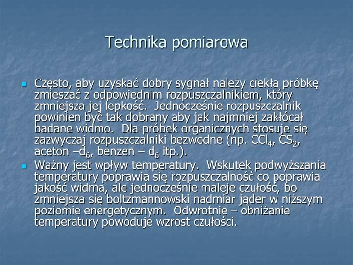 Technika pomiarowa