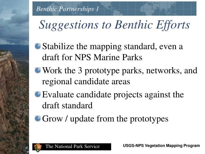 Benthic Partnerships 1