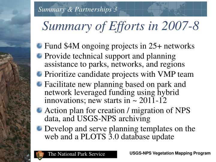 Summary & Partnerships 3