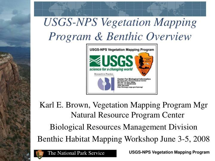 Usgs nps vegetation mapping program benthic overview