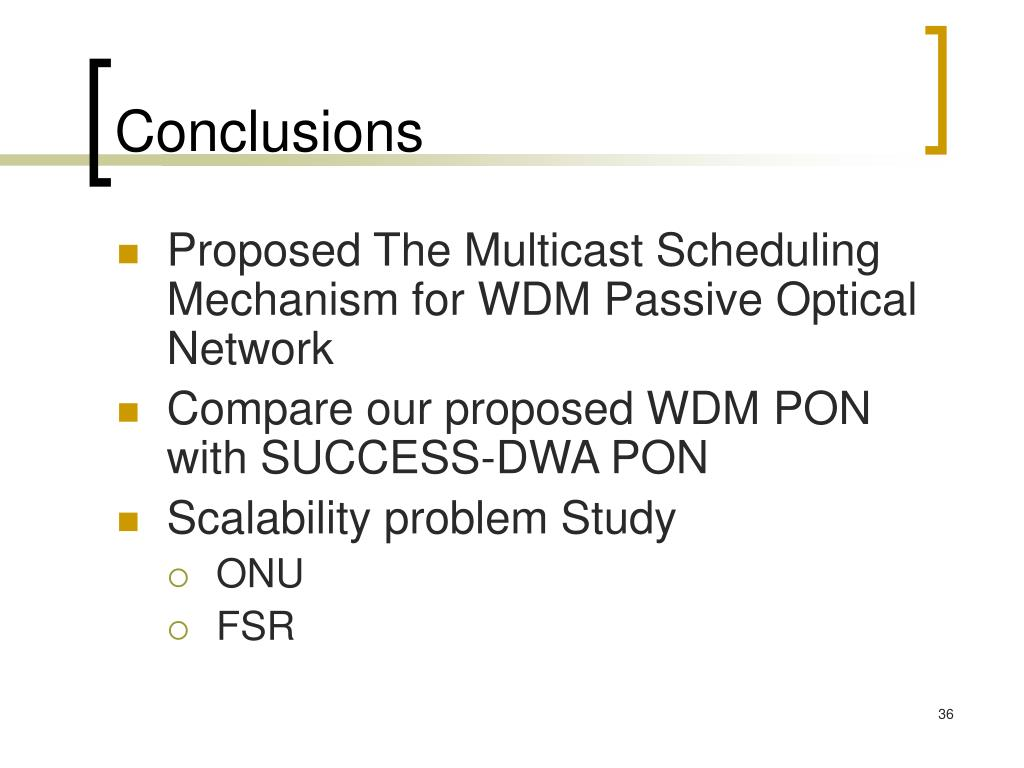 PPT - A WDM Passive Optical Network Architecture for