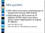 nfs and dns