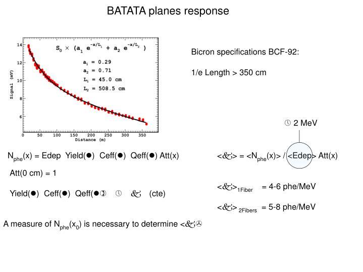 BATATA planes response