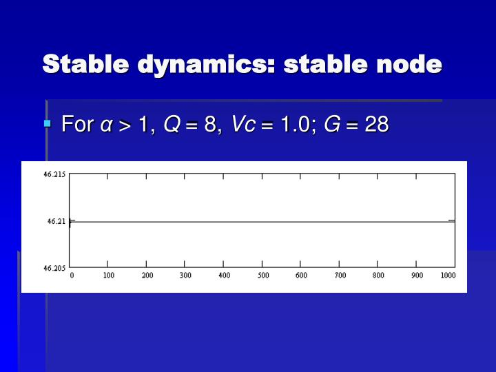 Stable dynamics: stable node