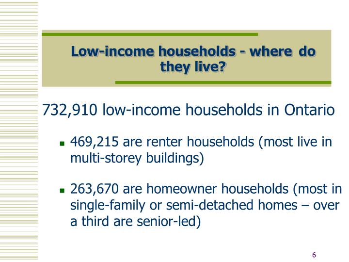 Low-income households - where