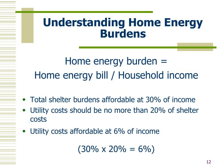 Understanding Home Energy Burdens