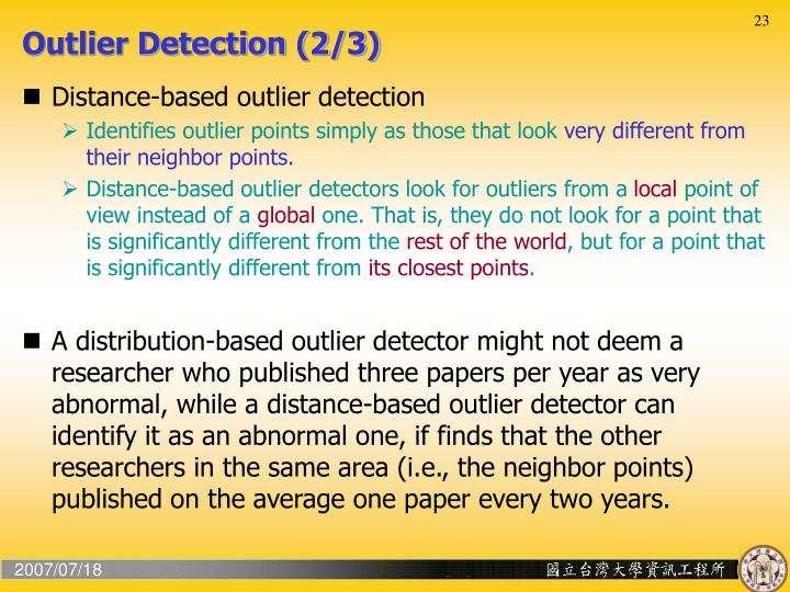 Outlier Detection (2/3)