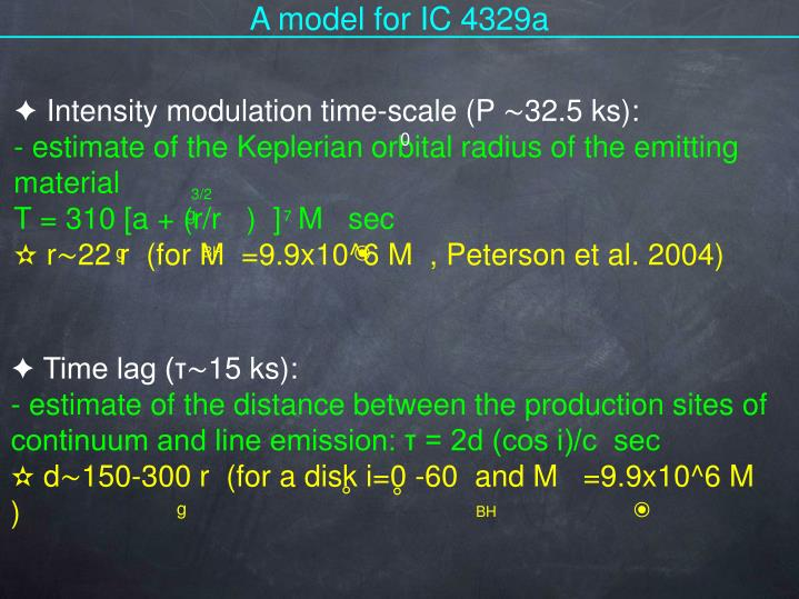 A model for IC 4329a