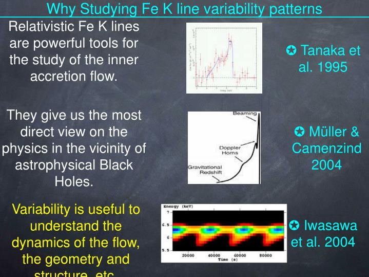 Why Studying Fe K line variability patterns