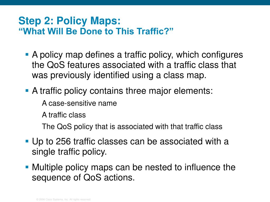 PPT - Optimizing Converged Cisco Networks (ONT) PowerPoint ... Qos Policy Map on