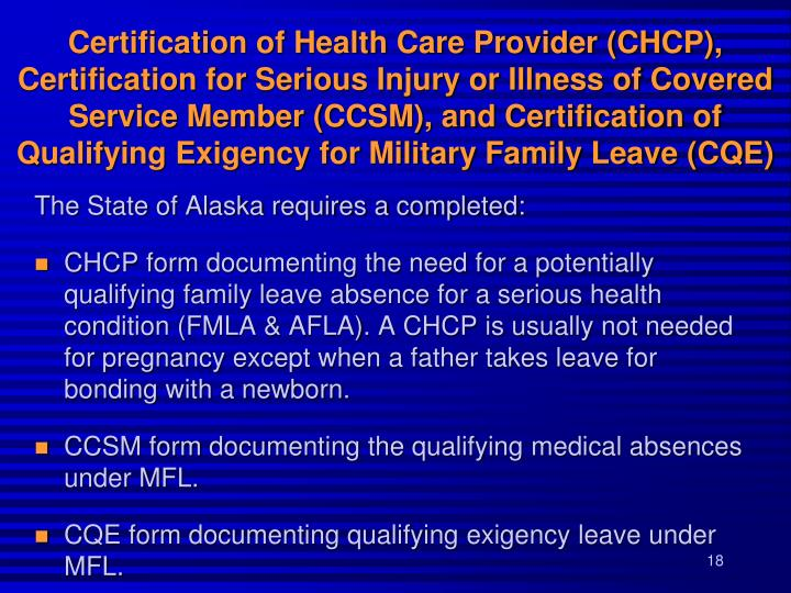 Ppt Family Medical Leave Alaska Family Leave Military Family