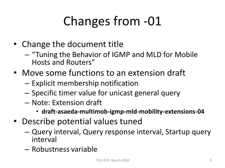 Changes from 01