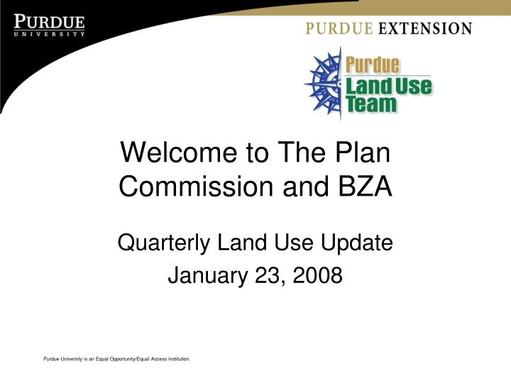 welcome to the plan commission and bza n.